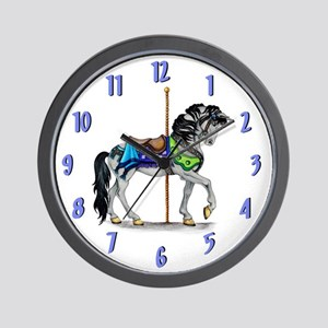 The Carousel Wall Clock ~ Lite Blue