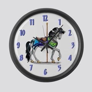 The Carousel Large Wall Clock ~ Blue