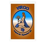 Virgo Postcards 8 pack Astrology Art Postcards
