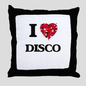 I love Disco Throw Pillow