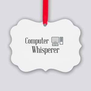 Computer Whisperer Picture Ornament