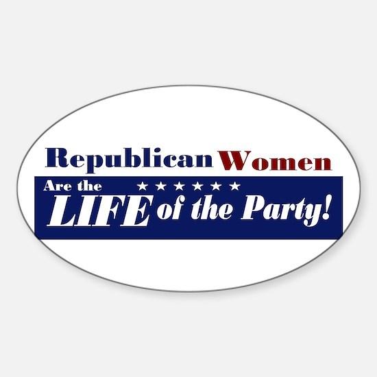 Republican Women Oval Decal
