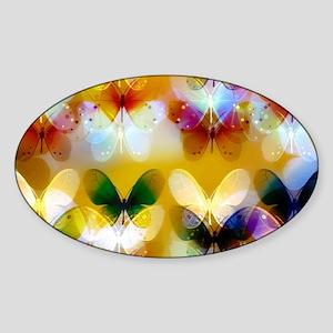 colorful glowing butterflies Sticker