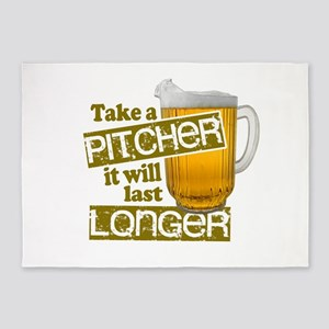 Beer - Take A Pitcher 5'x7'Area Rug