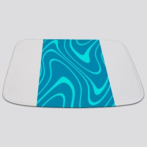 Chic Abstract Blue Hues Sky Dylan's Fave Bathmat