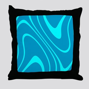 Chic Abstract Blue Hues Sky Dylan's F Throw Pillow