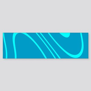 Chic Abstract Blue Hues Sky Dylan's Bumper Sticker
