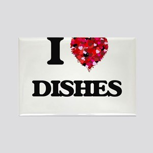 I love Dishes Magnets