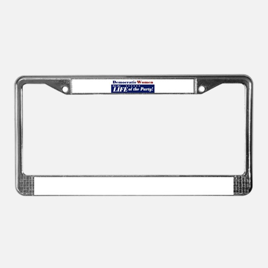 Democratic Women License Plate Frame