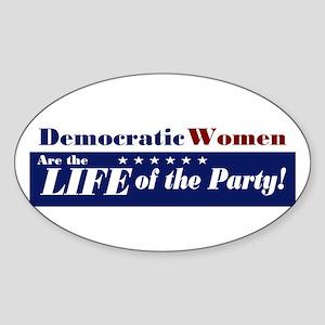 Democratic Women Oval Sticker