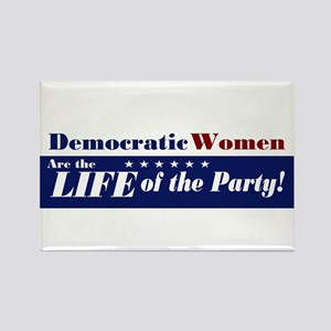 Democratic Women Rectangle Magnet