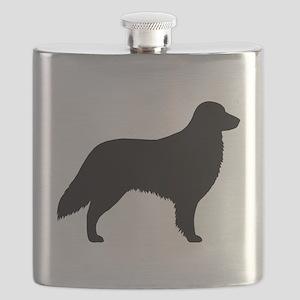 Flat Coated Retriever Flask