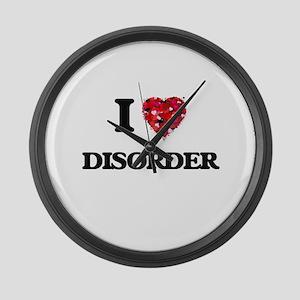 I love Disorder Large Wall Clock