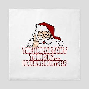 Christmas Funny Santa Claus Queen Duvet