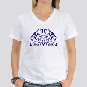 Celtic Half-Circle Women's V-Neck T-Shirt