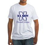 Proud Navy Mom Fitted T-Shirt