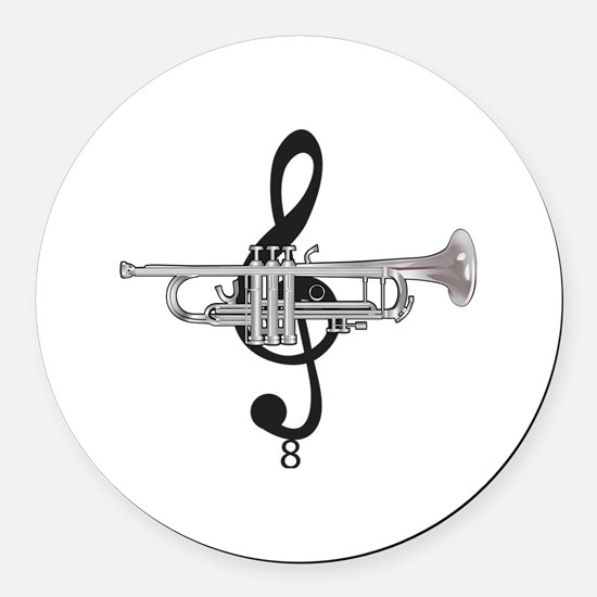 Cute Instruments Round Car Magnet