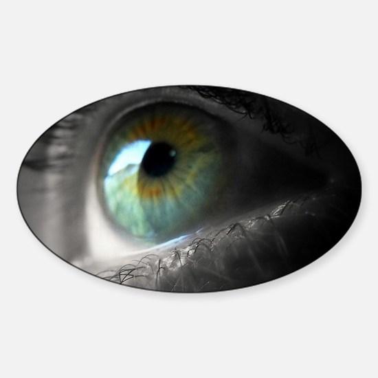 Cute Big eye girl Sticker (Oval)