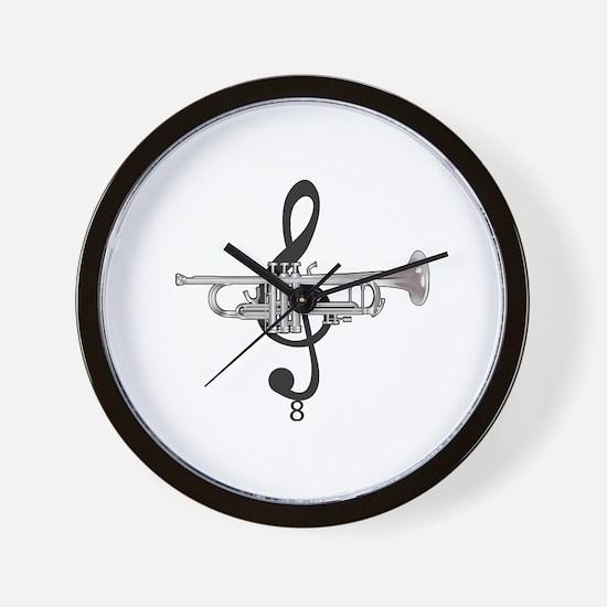 Cute Trumpet Wall Clock