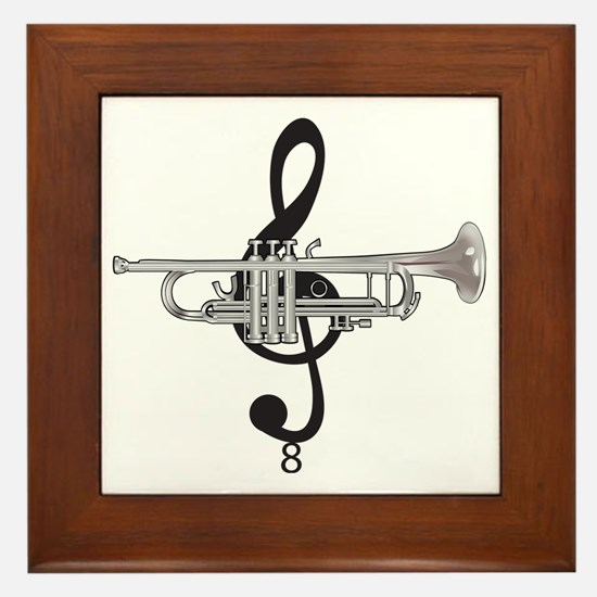 Cute Instruments Framed Tile