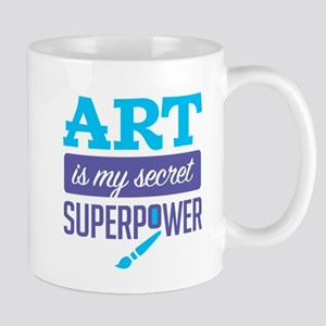 Art is My Secret Superpower Mugs