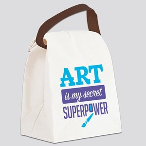 Art is My Secret Superpower Canvas Lunch Bag