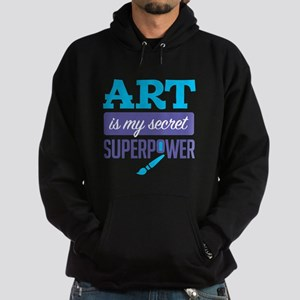 Art is My Secret Superpower Hoodie