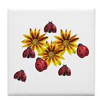 Ladybug Party Tile Coaster
