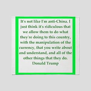 donald trump quote Throw Blanket