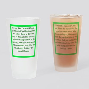 donald trump quote Drinking Glass
