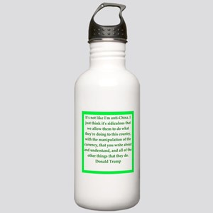 donald trump quote Water Bottle