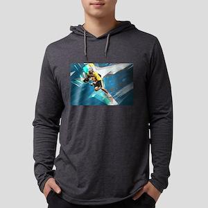 Super Crayon Colored Lacrosse Long Sleeve T-Shirt