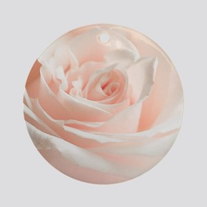 Soft Rose Round Ornament