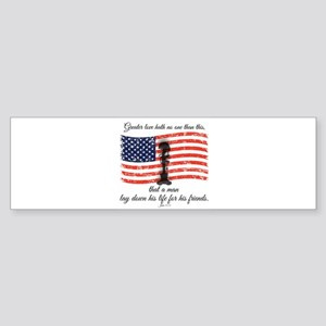 No greater love - Fallen Soldier Bumper Sticker