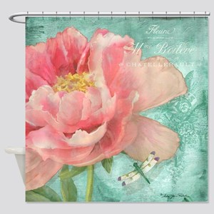 Peonies Shower Curtains