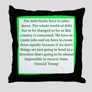 donald trump quote Throw Pillow