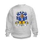 Anglois Family Crest Kids Sweatshirt