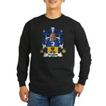 Anglois Family Crest Long Sleeve Dark T-Shirt
