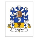 Anglois Family Crest Small Poster