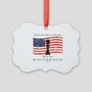 No greater love - Fallen Soldier Picture Ornament