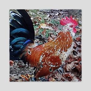 Crazy Rooster Queen Duvet