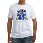 Amour Family Crest  Fitted T-Shirt