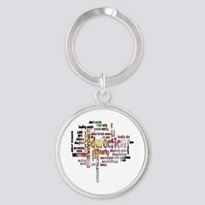 Breast Cancer Awareness and Prevent Round Keychain