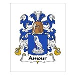 Amour Family Crest  Small Poster