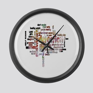 Breast Cancer Awareness and Preve Large Wall Clock