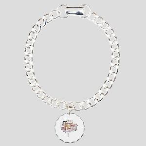 Breast Cancer Awareness  Charm Bracelet, One Charm