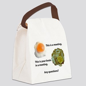 Meetings Canvas Lunch Bag