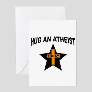 ATHEIST HUGS Greeting Cards