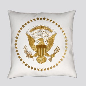 Gold Presidential Seal Everyday Pillow