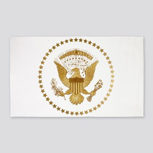 Gold Presidential Seal Area Rug